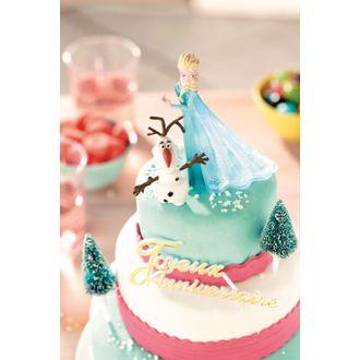 Sujets décoratifs pour gâteau la reine des neiges en plastique