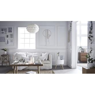 Zodio - coussin carré uni en coton blanc 40x40cm