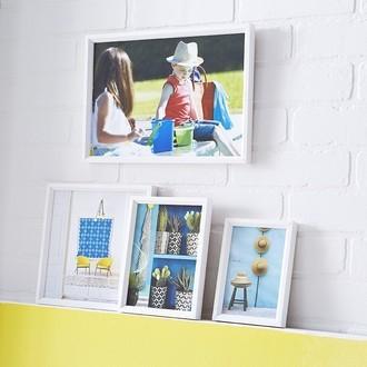 Zodio - cadre photo en bois blanc 10x15cm