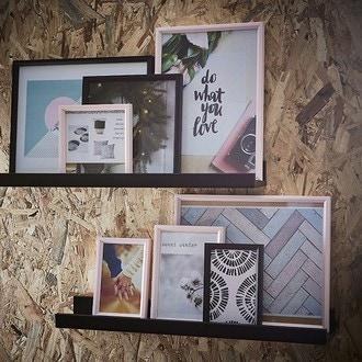 Zodio - cadre photo en bois blush 10x15cm