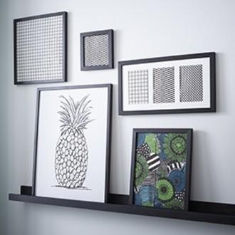 Zodio - cadre photo en bois noir 10x15cm