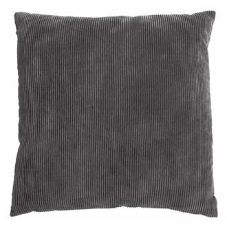 Coussin carré gris Corduroy 60x60cm