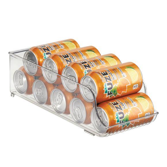 Porta lattine trasparente in plastica 14x35x10cm