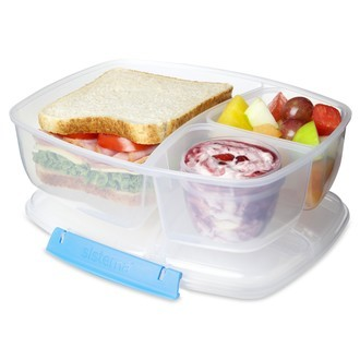 Lunchbox avec 3 compartiments et pot de yaourt ou sauce 2L