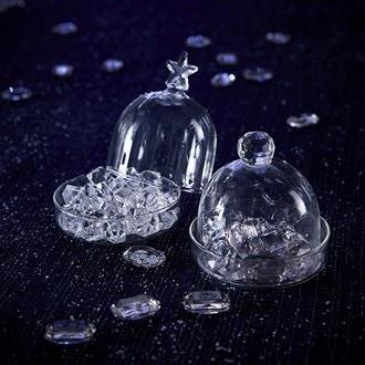 Mini bonbonnière diamant en verre