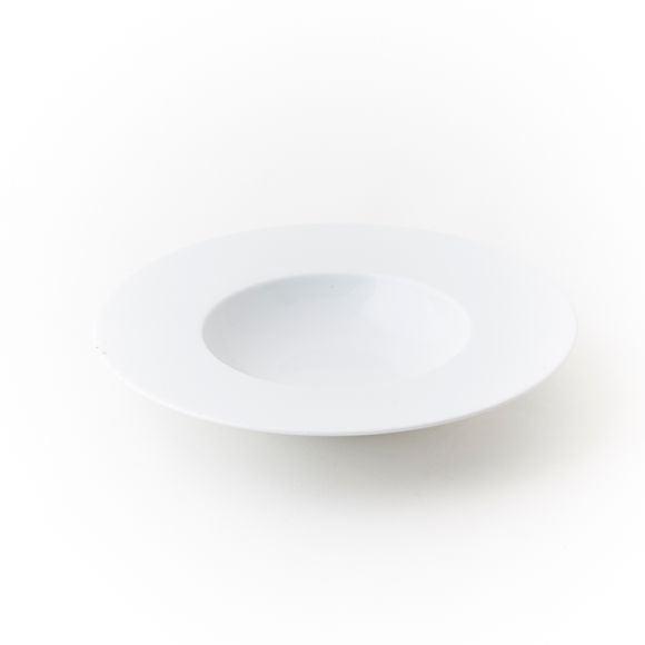 Assiette à pâtes ou risotto blanche Zen 23cm
