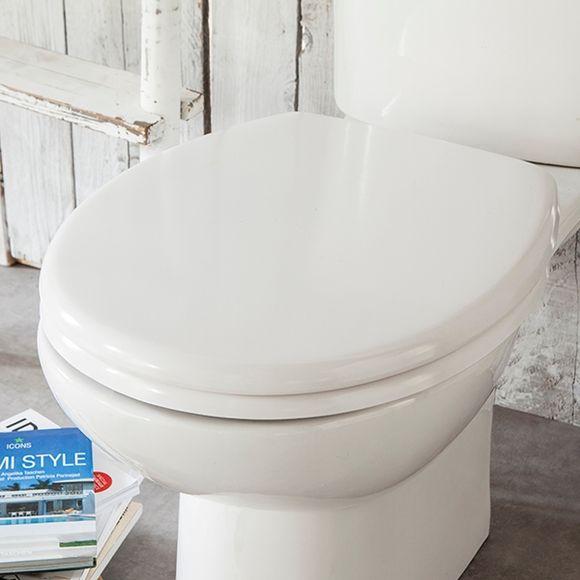 Abattant pour wc declipsable blanc