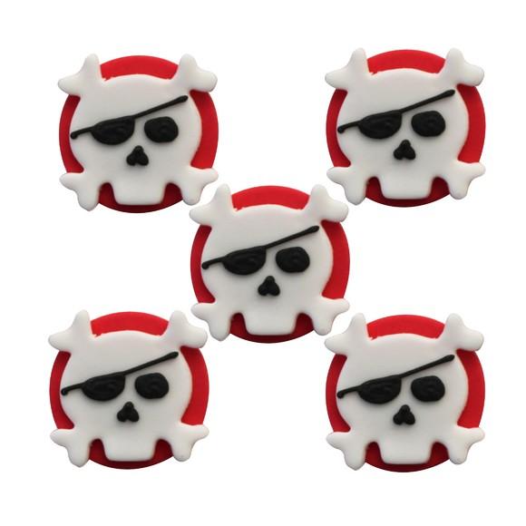 5 blasons de pirate en sucre 29g
