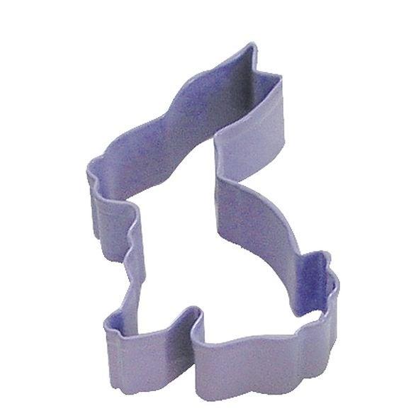Tagliabiscotti coniglietto viola in metallo verniciato da 7,5 cm
