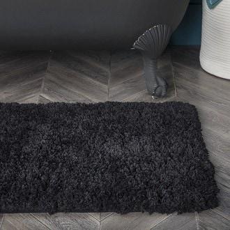 Zodio - tapis de bain rectangle, tufté, reglisse 60x90cm