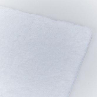 Zodio - tapis de bain rectangle, tufté, blanc 60x90cm