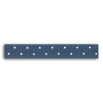 TOGA - Rouleau de tissu adhésif thermocollant bleu à pois blanc - largeur 1,5cm, longueur - 5 m