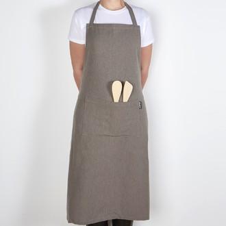 Tablier de cuisine chambray gris 80x105cm