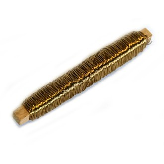 Fil cuivre de fleuriste or 0,55mmx50m