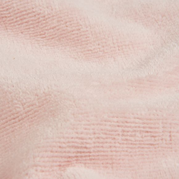 Accappatoio con cappuccio in spugna rosa taglia S