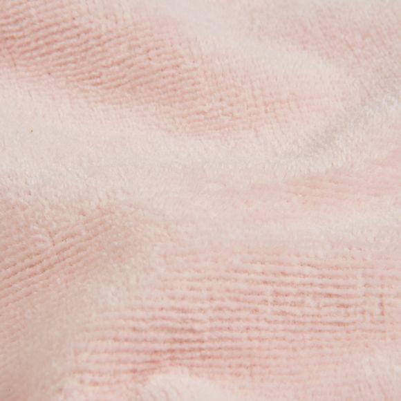 Accappatoio con cappuccio in spugna rosa taglia L