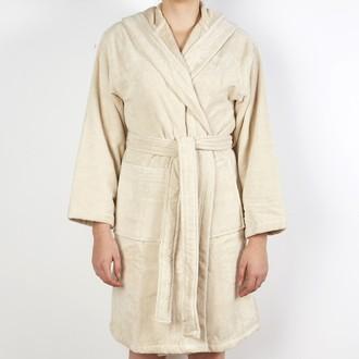 Maom - peignoir femme en coton éponge pashmina taille s