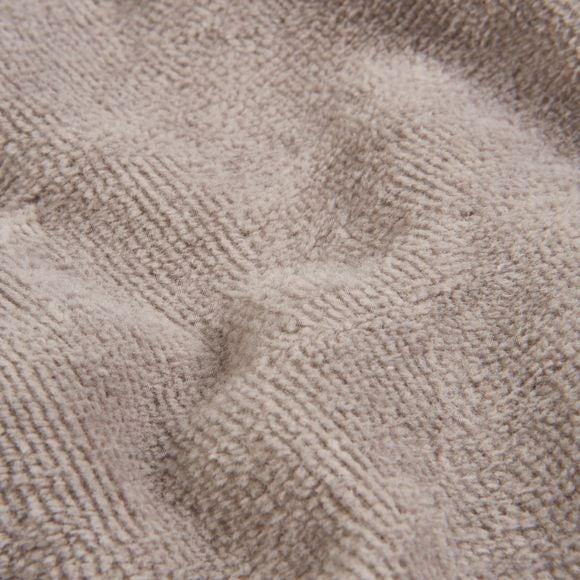 Accappatoio con cappuccio in spugna grigio taglia L