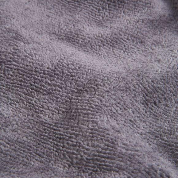 Accappatoio in spugna di cotone grigio taglia L