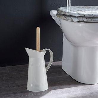 Pot à balai pour wc broc ivoire