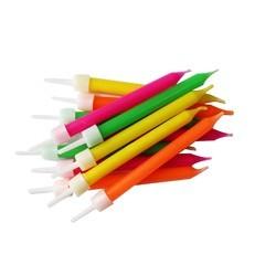 Achat en ligne Set de 12 bougies multicolore Néon