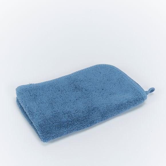 Serviette invité en micro coton bleu baltique