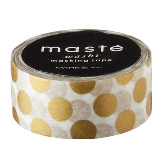 Masking tape pois dore 15mmx7m