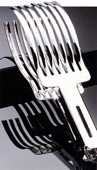 Pinze in acciaio inox per arrosto, per fette regolari