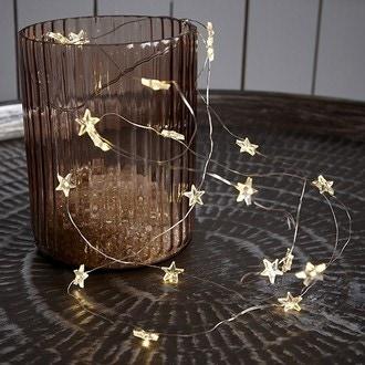 Guirlande lumineuse, 20 étoiles led lumière chaude 190cm