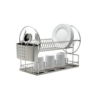 Egouttoir à vaisselle avec étage en inox 43x23x33cm