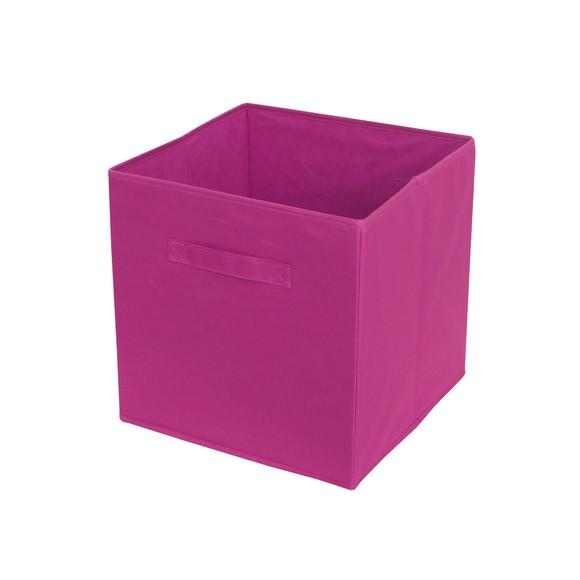 acquista online Contenitore in poliestere intrecciato rosa 31x31x31cm