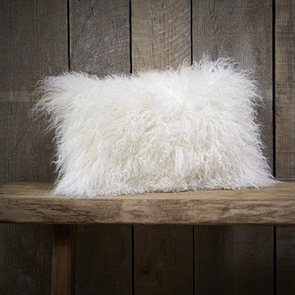 Coussin rectangle blanc chevre pollux 45x30cm