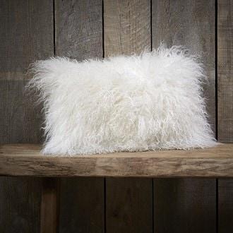 Coussin rectangle blanc chevre pollux 45x30cm