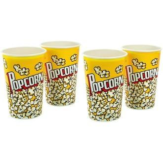 Lot de 4 gobelets à popcorn en papier 1,5L