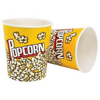 Lot de 2 gobelets à popcorn en papier XL 3,8L