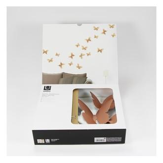 9 papillons de mur Mariposa métal cuivre
