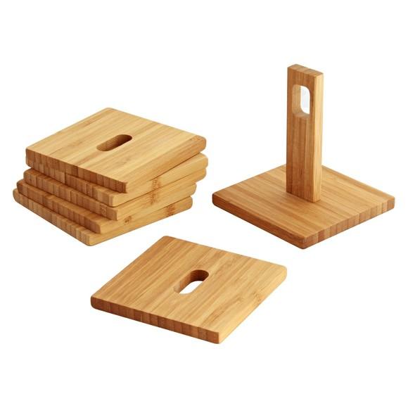 Achat en ligne Lot de 6 dessous de verre en bois