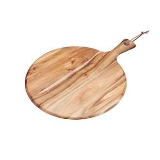 Tagliere in legno con manico Ø30cm