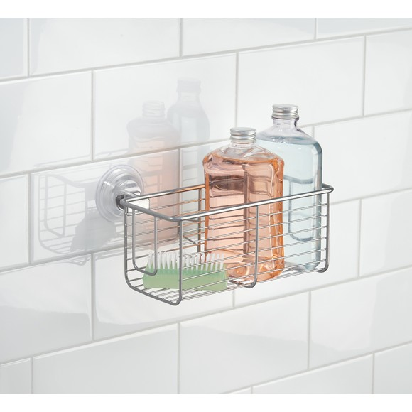 Panier de douche profond à ventouse en inox Powermax