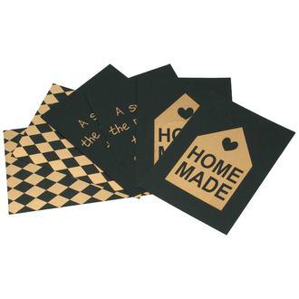 Set de 6 cartes en kraft noir 13x18cm