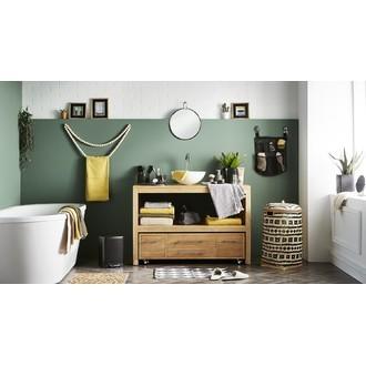 ZODIO - Poubelle de salle de bain rectangulaire noir