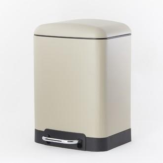 ZODIO - Poubelle de salle de bain rectangulaire beige