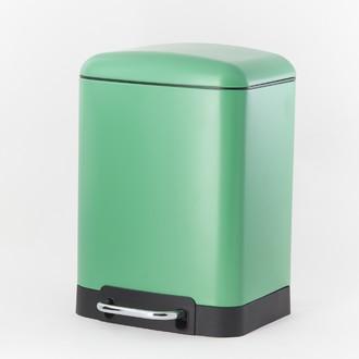 ZODIO - Poubelle de salle de bain rectangulaire menthe - 6L