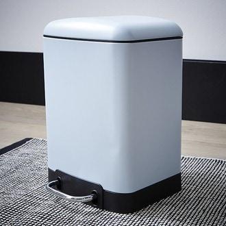 ZODIO - Poubelle de salle de bain rectangulaire bleu ciel - 6L