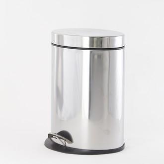 Poubelle de salle de bain ovale avec ouverture à pédale 5L