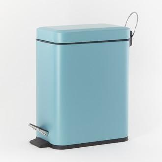 Poubelle de salle de bain rectangulaire turquoise - 5L