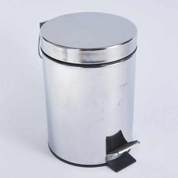 Poubelle de salle de bain métal chromé 3L