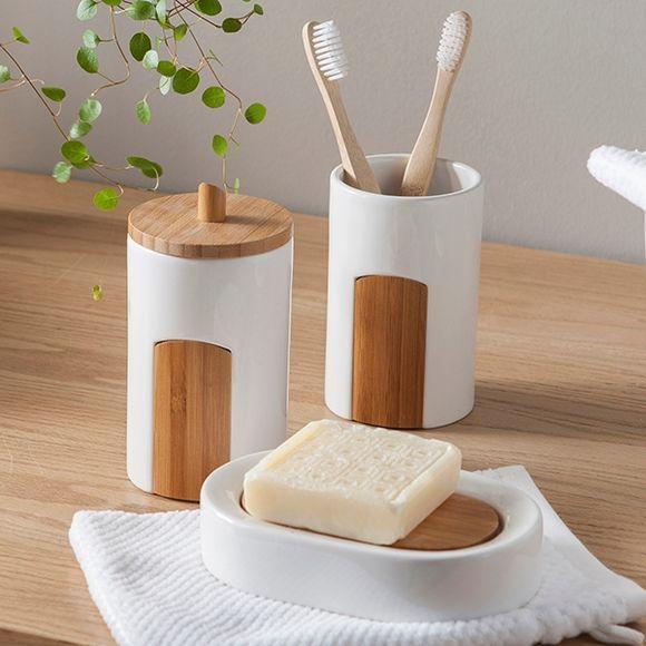 Gobelet à dents en céramique et bambou Beavis
