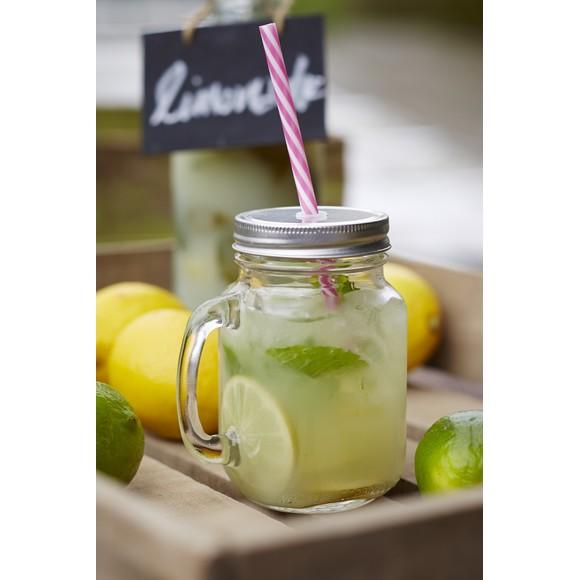 Mug jar en verre avec anse 47cl