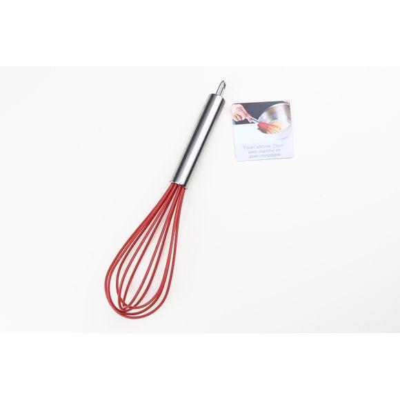 Frusta in silicone rosso 25 cm